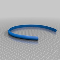 Small Facet Hair Band 3D Printing 13994