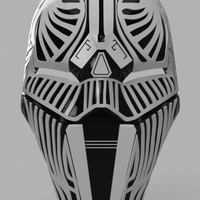 Small Sith Acolyte Mask (Star Wars) 3D Printing 140026