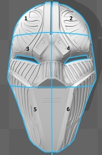 Sith Acolyte Mask (Star Wars) 3D Print 140028