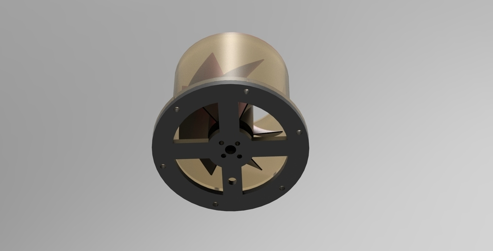 Super Turbine Fan 3D Print 140038