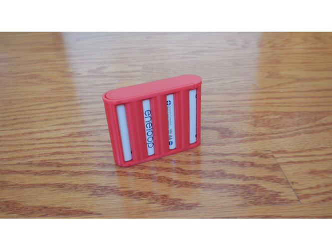 AA Battery Container 3D Print 140052