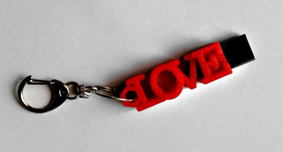 LOVE shaped usb flash drive case 3D Print 140062