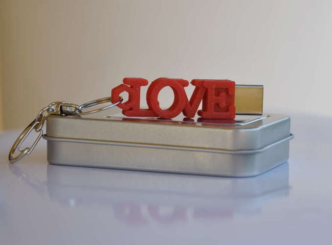 LOVE shaped usb flash drive case 3D Print 140063