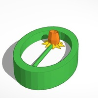 Small daffodil pendant 3D Printing 14008