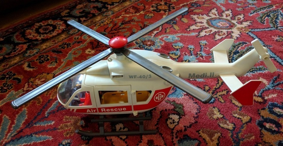 Playmobil Rescue Helicopter Tail Rotor 3D Print 140108