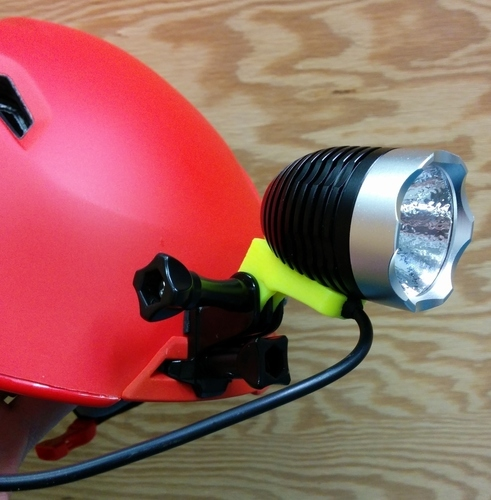 Magicshine LED headlamp mount for Giro Edit Helmet 3D Print 140127