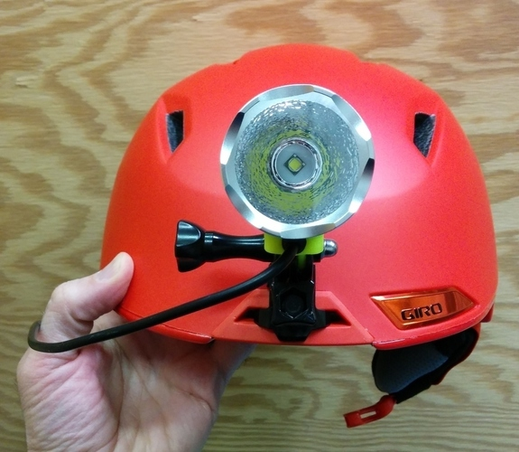 Magicshine LED headlamp mount for Giro Edit Helmet 3D Print 140128