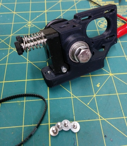 Greg's Wade Accessible Belt Drive Extruder, Rev2 3D Print 140143