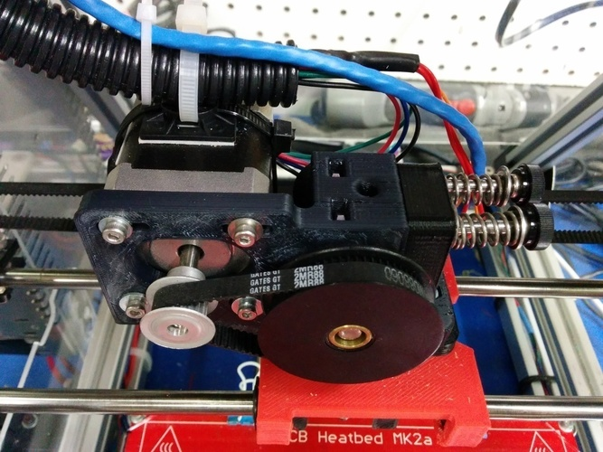 Greg's Wade Accessible Belt Drive Extruder, Rev2 3D Print 140144