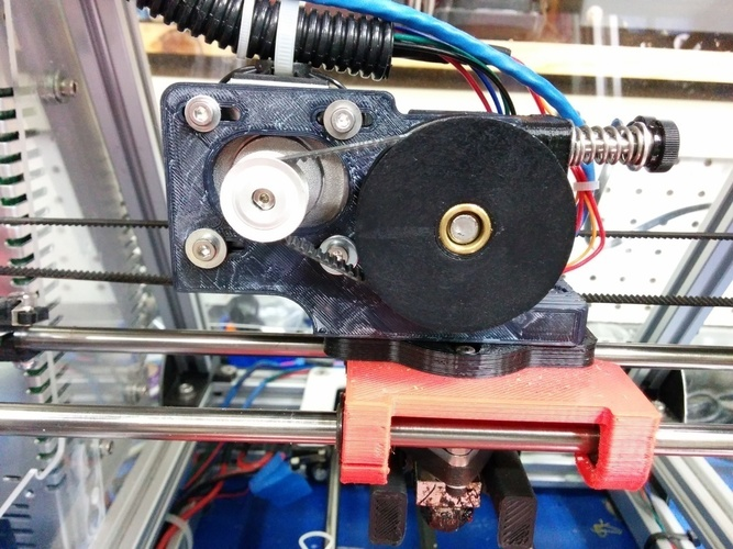 Greg's Wade Accessible Belt Drive Extruder, Rev2 3D Print 140147