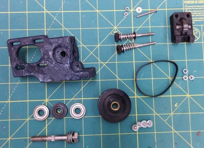 Greg's Wade Accessible Belt Drive Extruder, Rev2 3D Print 140148