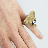 Small the all seein eye ring 3D Printing 14016