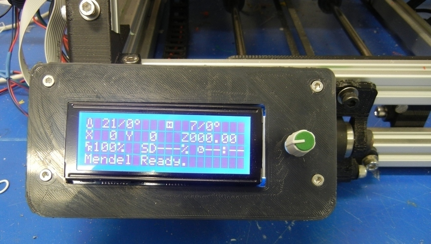 Gadgets 3D LCD Mount for MendelMax 3D Print 140164