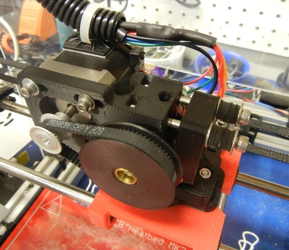 Greg's Wade Accessible Belt Drive Extruder 3D Print 140181