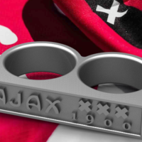 Small Ajax Amsterdam Fan Ring Vintage Edition 3D Printing 140203
