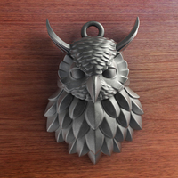 Small Owl - Pendant 3D Printing 140230