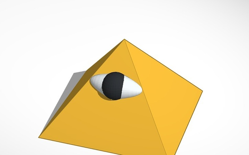 the all seeing eye of the pyramid 3D Print 14028