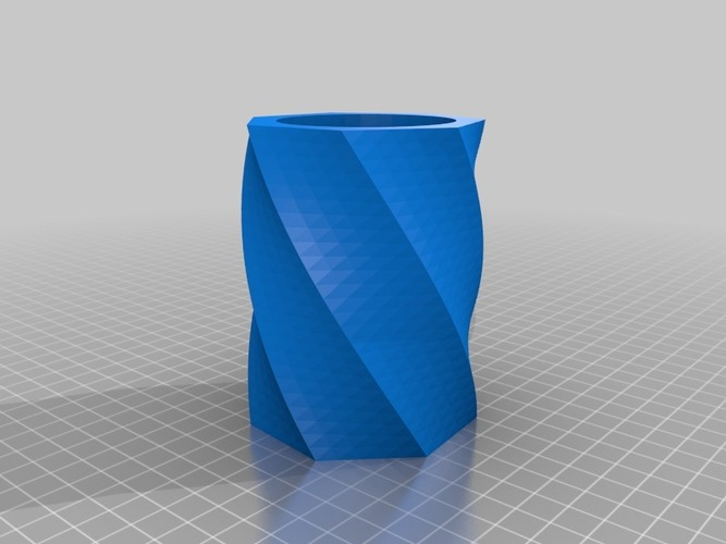 Twisty cup for Imakr FormFutura PET and other foodsafe plasitcs 3D Print 14032