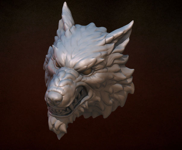 Aluminum 3d Printer >> 3D Printed Wolf head by kovalev14 | Pinshape