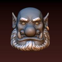 Small Ogre head 3D Printing 140337