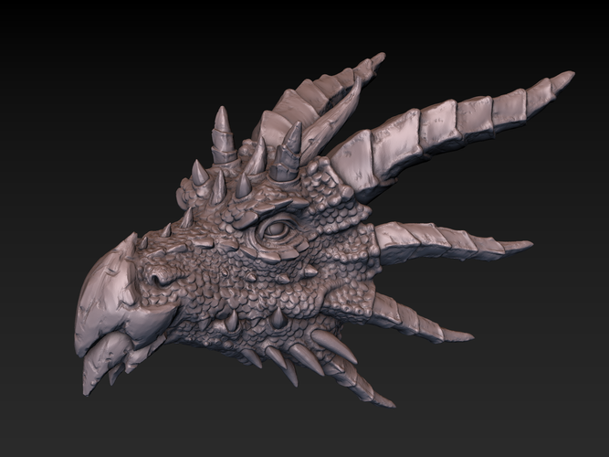 Dragon head 3D Print 140359