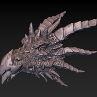 Small Dragon head 3D Printing 140359