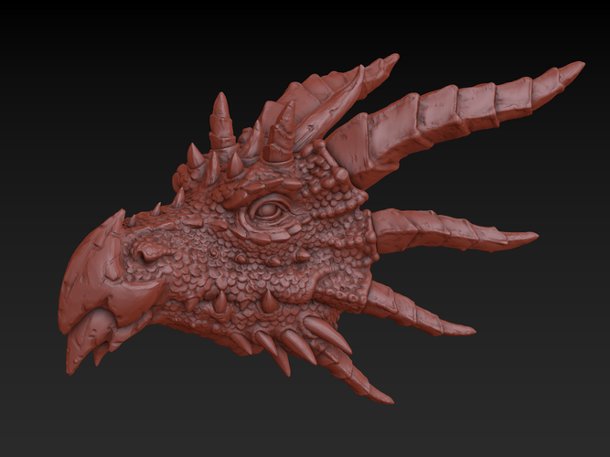 Dragon head 3D Print 140360