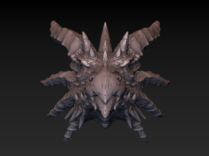 Dragon head 3D Print 140361