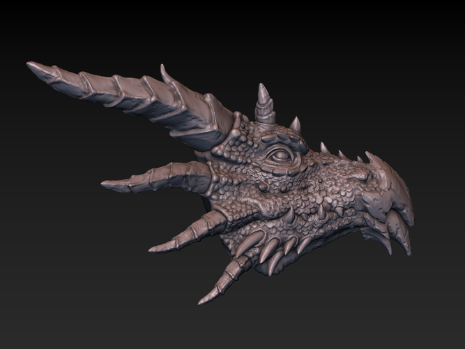 Dragon head 3D Print 140364