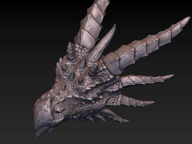 Dragon head 3D Print 140367