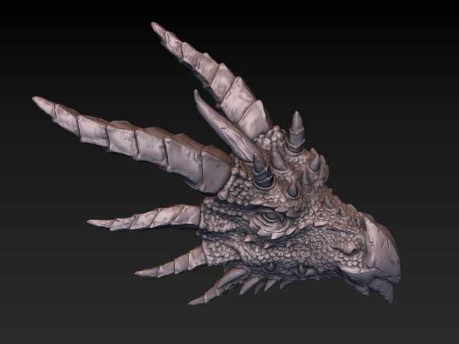 Dragon head 3D Print 140368