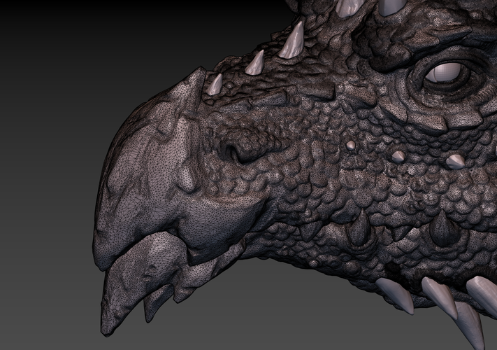 Dragon head 3D Print 140375