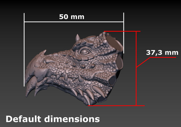 Dragon head 3D Print 140379
