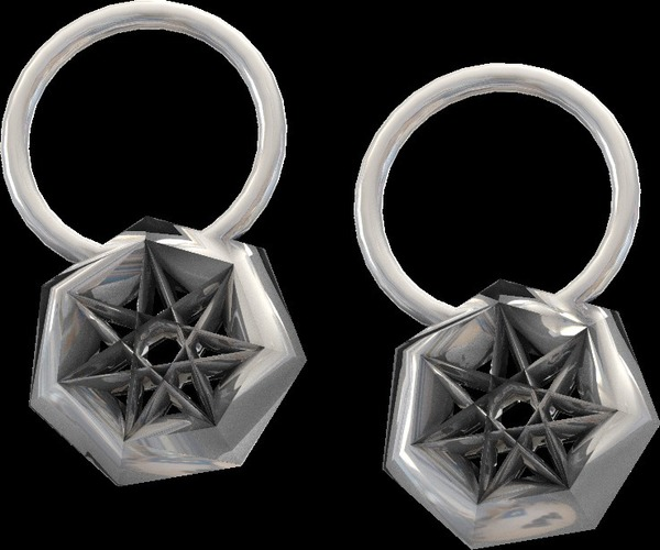 star earrings and pendant  3D Print 14039