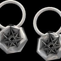 Small star earrings and pendant  3D Printing 14039