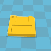 Small Floppydisk Keychain 3D Printing 140390