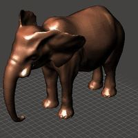 Small Tusk less Elephant 3D Printing 140402