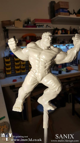 Avengers Scene- The Incredible Hulk  3d model for printing. 3D Print 140412