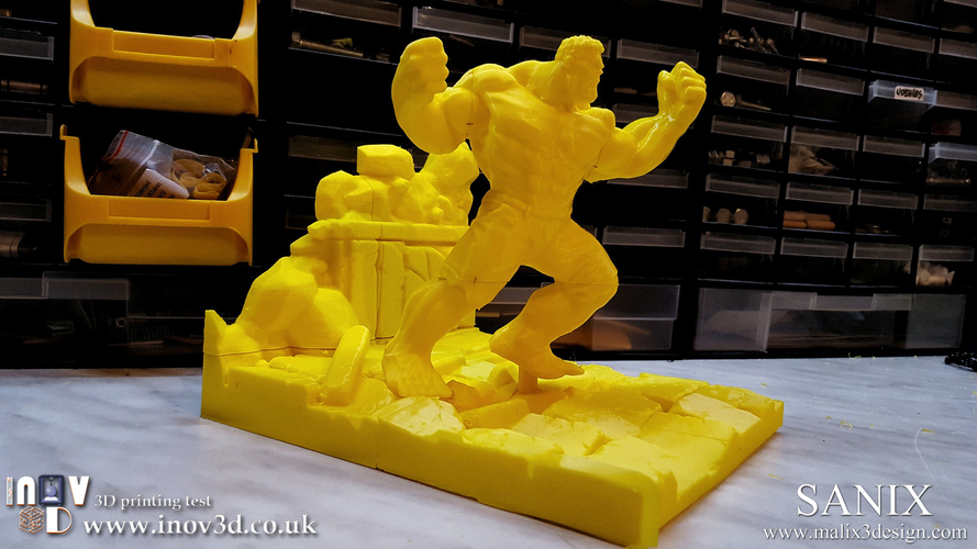 Avengers Scene- The Incredible Hulk  3d model for printing. 3D Print 140414