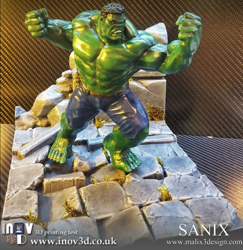 Avengers Scene- The Incredible Hulk  3d model for printing. 3D Print 140416