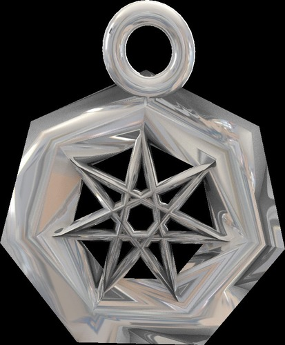 star earrings and pendant  3D Print 14042