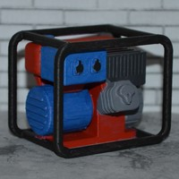 Small Scale 1/10 petrol generator 3D Printing 140448