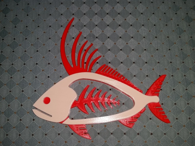 Rooster Fish 3D Print 140454