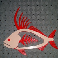 Small Rooster Fish 3D Printing 140454