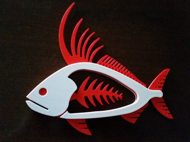 Rooster Fish 3D Print 140456