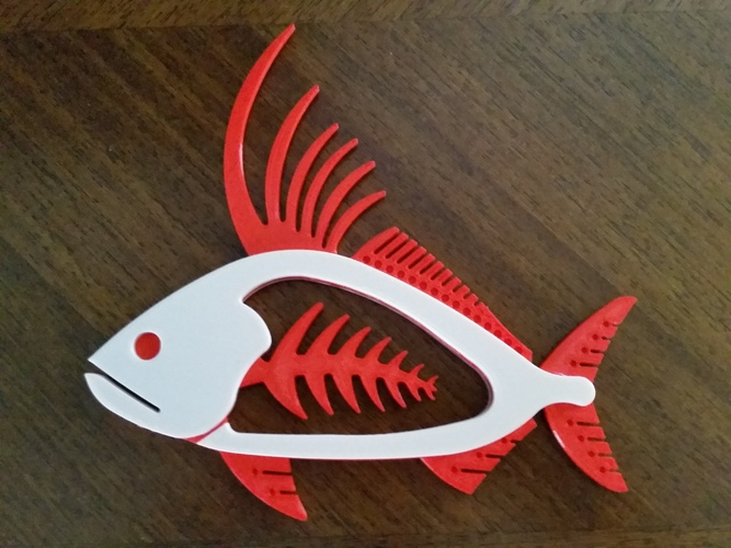 Rooster Fish 3D Print 140457