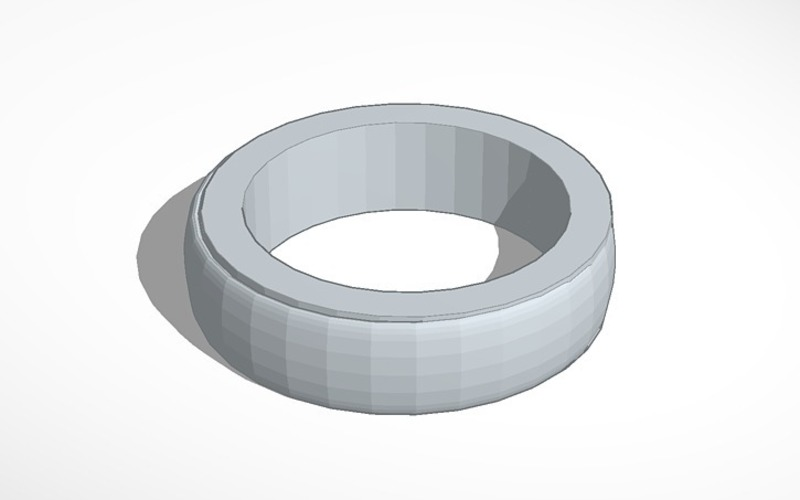 Plain ring band 2  smaller less chunky elagant  3D Print 14049
