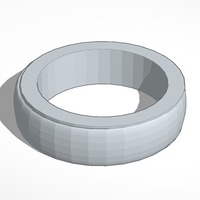 Small Plain ring band 2  smaller less chunky elagant  3D Printing 14049