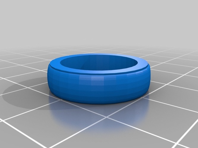 Plain ring band 2  smaller less chunky elagant  3D Print 14050