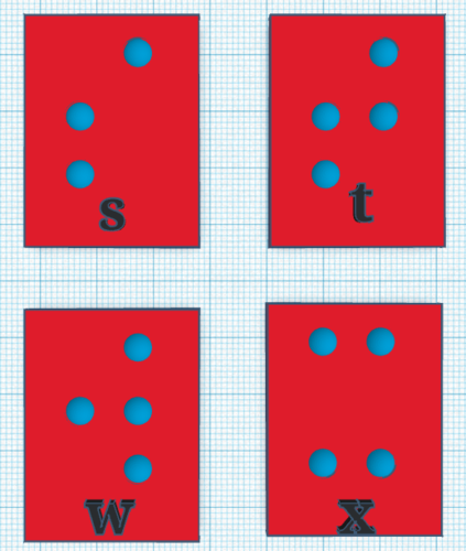 braille alfabet cards 3D Print 140551